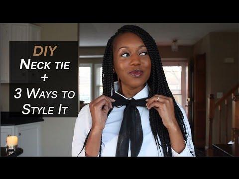 DIY: Neck and bow tie